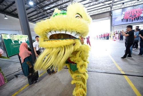 Lion dance indoor